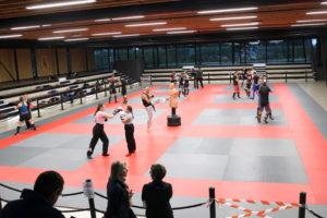 Boxing club dans le dojo