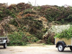plateforme de déchets verts