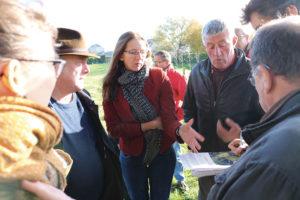 Visite de terrain à Écraibnville avec les élus municipaux