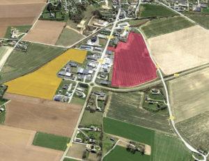 Terrains disponibles pour l'extension de la zone
